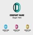 D alphabet logo letter d icon vector