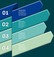 Infographic with numbered ribbon pointers vector