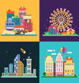 Different urban landscapes vector