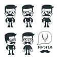 Universal characters in different poses icon vector
