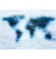 Blue grunge world map vector