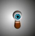 Human eye in the keyhole vector