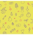 Yellow new year pattern vector
