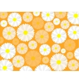 Simple seamless daisy background vector