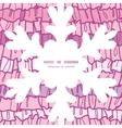 Pink ruffle fabric stripes christmas snowflake vector