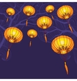 Fairy-lights big traditional chinese lanterns vector