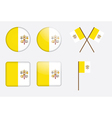 Badges with flag of vatican city vector