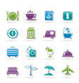 Traveling and vacation icons vector