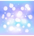 Blue abstract shining light bokeh effect vector
