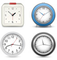 Collection of clocks and alarms vector