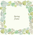 Spring frame made of leaves vector