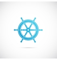 Steering wheel symbol icon or label vector