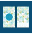 Colorful pastel triangle texture vertical round vector