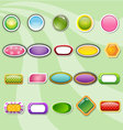 Collection buttons of colorful templates vector
