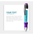 Speech template with pen vector