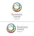 Logo ball of yarn vector