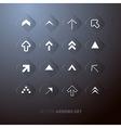 Transparent abstract arrows set vector