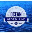 Travel grunge background sea nautical design vector