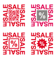 Sale signs set vector