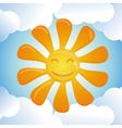 Cartoon smiling sun vector