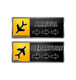 Arrival and departure tags vector