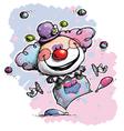 Clown juggling baby colors vector