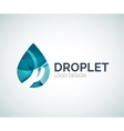Blue droplet design made of color pieces vector