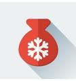 Simple santa bag icon in flat style vector