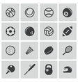 Black sport icons set vector