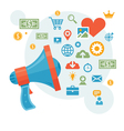 Marketing - loudspeaker vector