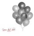 Grey balloons vector