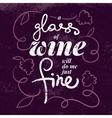 Wine list typographics poster vector
