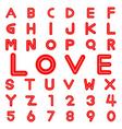Love alphabet vector