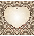 Heart on seamless background vector