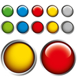 Coloured glass buttons vector
