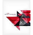 Triangle geometric shape abstract background vector