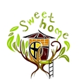 Sweet home on the tree vector