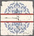 Ornamental round card vector