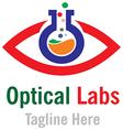 Optical labs logo template vector