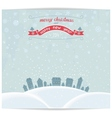 Christmas card with town and vintage lettering des vector