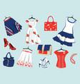 Summer womens clothes vector