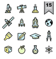 Science icons set eps 10 vector
