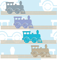 Steam colorful locomotives vector