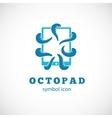 Octopus pad concept symbol icon or logo template vector