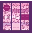Pink ruffle fabric stripes vertical banners set vector