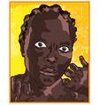 Black woman cartoon vector