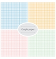Graph paper patterns vector