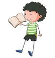 Boy reading vector
