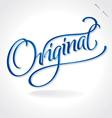 Original hand lettering vector