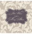 Wedding stylish card template vector